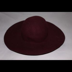 Burgundy forever 21 sun hat